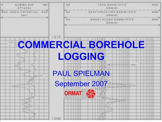 COMMERCIAL BOREHOLE LOGGING