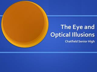 The Eye and Optical Illusions
