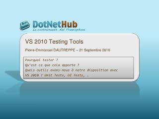 VS 2010  Testing  Tools