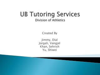 UB Tutoring Services Division of Athletics