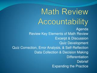 Math Review Accountability