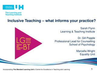 Inclusive Teaching – what informs your practice?