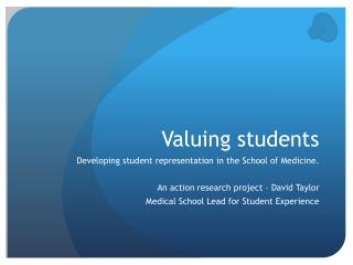 Valuing students