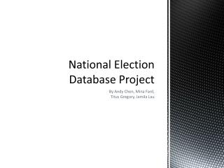 National Election Database Project