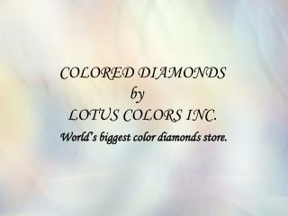 Buy Colored Diamonds and Fancy Color Diamonds