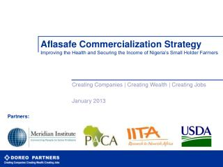Creating Companies | Creating Wealth | Creating Jobs January 2013
