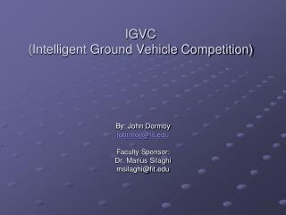 IGVC (Intelligent Ground Vehicle Competition)