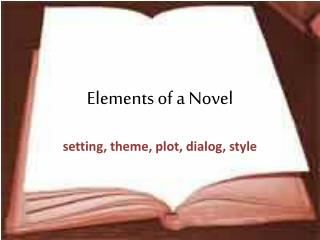 Elements of a Novel