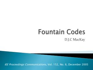 Fountain Codes