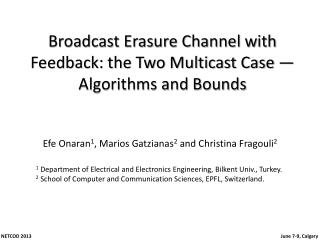 Broadcast Erasure Channel with Feedback: the Two Multicast Case — Algorithms and Bounds