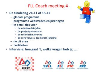 FLL Coach meeting 4