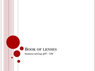 Book  of  lenses
