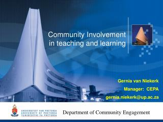 Community Involvement in teaching and learning