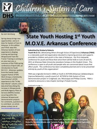 State Youth Hosting 1 st  Youth M.O.V.E. Arkansas Conference