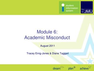 Module 6: Academic Misconduct