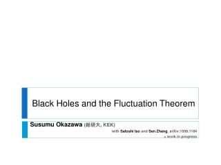 Black Holes and the Fluctuation Theorem