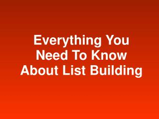 become an online marketer and learn averything about list bu