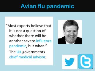 Avian flu pandemic