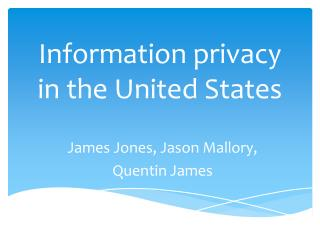 Information privacy in the United States