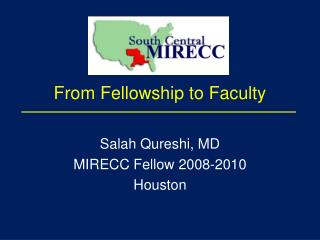 From Fellowship to Faculty