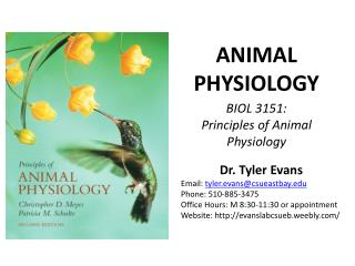 BIOL 3151:  Principles of Animal Physiology
