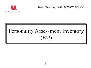 Personality Assessment Inventory ( PAI )