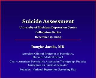 SUICIDE ASSESSMENT PROTOCOL