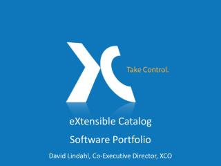 eXtensible Catalog Software Portfolio
