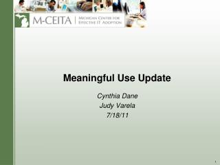 Meaningful Use Update