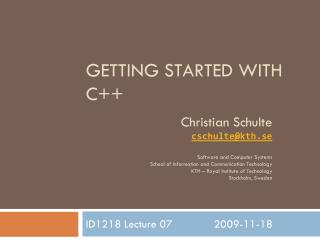 Getting Started With C++