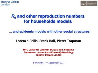 R 0  and other reproduction numbers  for households models