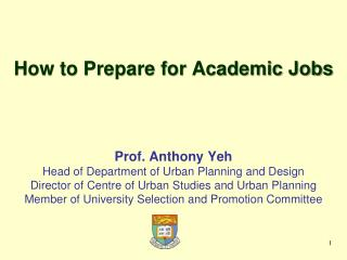 How to Prepare for Academic Jobs