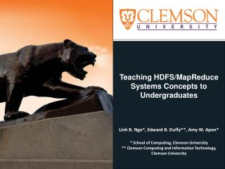 Teaching HDFS/MapReduce Systems Concepts to Undergraduates
