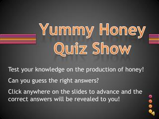 Yummy Honey Quiz Show