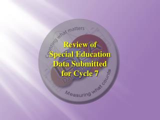 Review of  Special Education  Data Submitted for Cycle 7