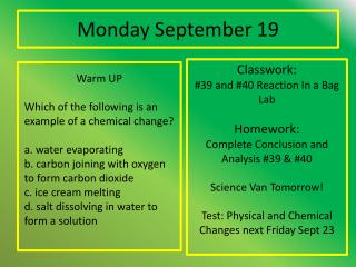 Monday September 19