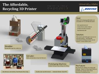 The Affordable,   Recycling  3D Printer