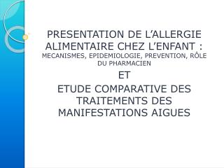 I – Introduction  II – Epidémiologie III – Physiopathologie  IV – Diagnostic V  – Traitement