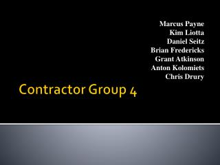 Contractor Group 4
