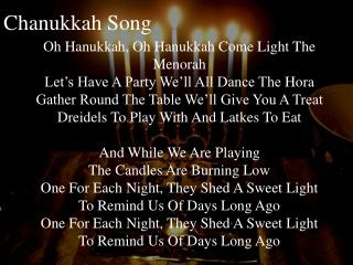 Chanukkah  Song