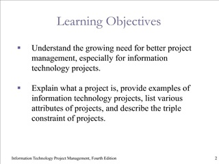 Chapter 1 : Introduction to Project Management