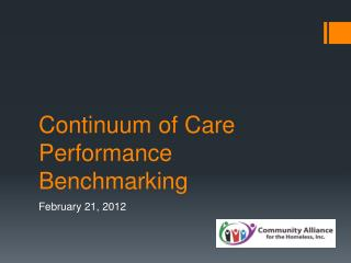 Continuum of Care  Performance Benchmarking