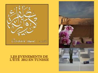 LES EVENEMENTS DE L'ÉTÉ  2012 EN TUNISIE
