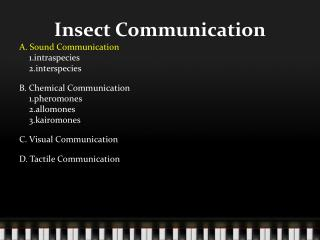Insect Communication