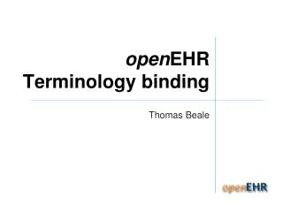open EHR Terminology binding