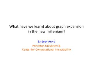 What have we learnt about graph expansion in the new  millenium ?