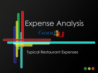 Expense Analysis