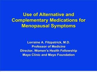 Use of Alternative and Complementary Medications for Menopausal ...
