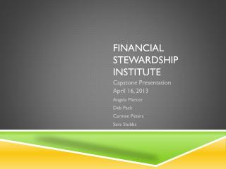Financial Stewardship Institute