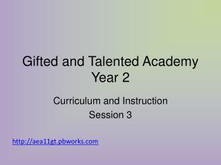 Gifted and Talented Academy Year 2